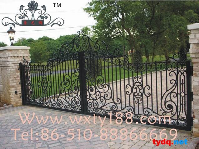 围栏设计图片,铁艺围栏图集 围墙大门图片素材 效果图 设计图