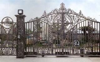别墅大门设计 别墅庭院围墙铁艺大门
