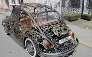 全球绝美镂空铁艺甲壳虫车