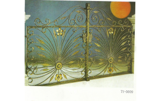 左右对称铁艺庭院门