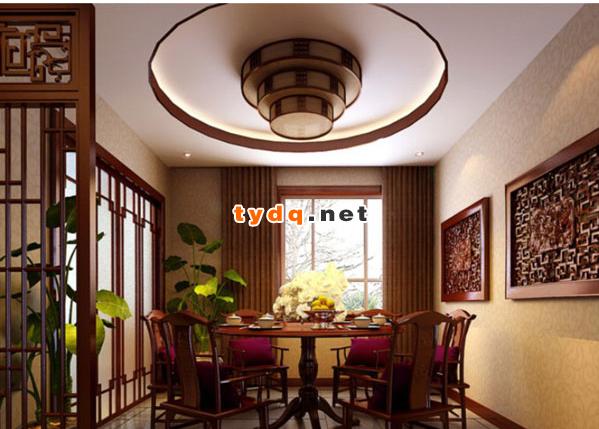 中式餐厅装修效果图大全欣赏