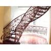 别墅铁艺楼梯,欧式铁艺楼梯定做