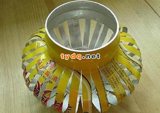 易拉罐手工制作创意灯笼-中国铁艺大全网—中国最大