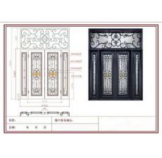 铁艺进户门设计图纸 包含效果图 (6图)