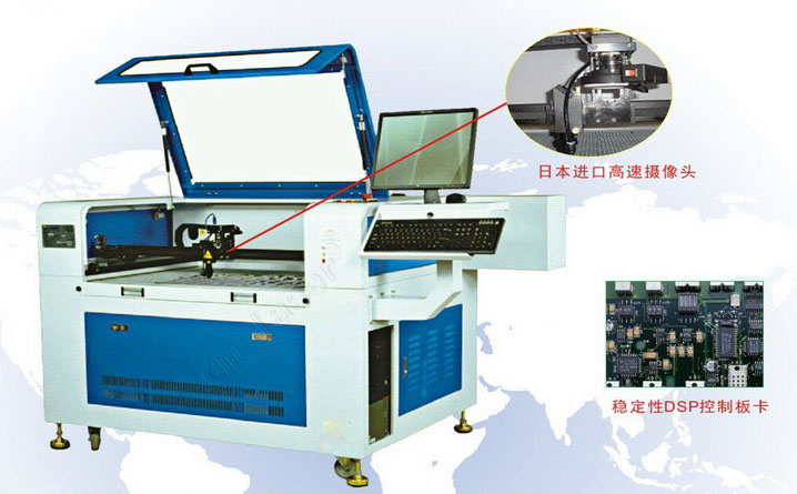 大幅面摄像定位激光切割机 大幅面CCD摄像 激光裁布机